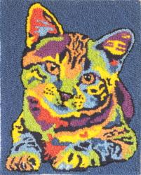 MIchael Vistia Cat Patterns - Punch Needle Patterns- Punch Needle Kits - Rug Punch Patterns - Rug Punch Kits - Rug Hookiing Patterns