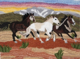 3 Colorado Horses - Horse Punch Needle Pattern & Punch Needle Kit