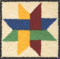 8 Point Star - Quilt Block Rug Punching Pattern or Rug Punching Kit