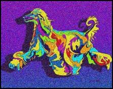 Afghan Hound - Michael Vistia Dog Punch Needle