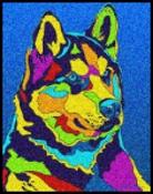 Alaskan Husky - Michael Vistia Dog Punch Needle