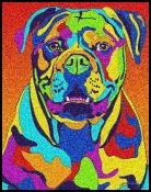 American Bulldog - Michael Vistia Dog Punch Needle