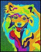 American Eskimo - Michael Vistia Dog Punch Needle
