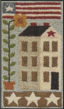 American Saltbox - Punch Needle Pattern or Punch Needle Kit
