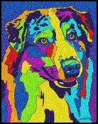 Australian Shepard - Michael Vistia Dog Punch Needle