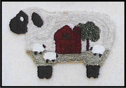 Baa Baa Barn Sheep - Punch Needle Pattern or Punch Needle Kit