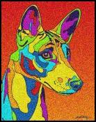 Basenji - Michael Vistia Dog Punch Needle
