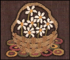 Basket of Daisies - Punch Needle Pattern or Punch Needle Kit