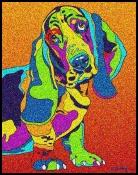 Bassett Hound - Michael Vistia Dog Punch Needle