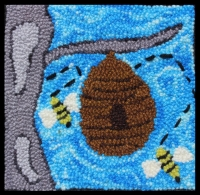Bee Hive -  Bee Hive Rug Punching Kit