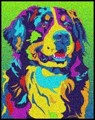 Bernese Mountain Dog - Michael Vistia Dog Punch Needle Pattern & Dog Punch Needle Kits