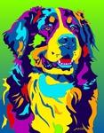 Bernese Mountain Dog - Michael Vistia Dog Rug Hooking Pattern & Dog Rug Punching Pattern
