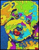 Bichon - Michael Vistia Dog Punch Needle Pattern & Dog Punch Needle Kits