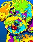 Bichon - Michael Vistia Dog Rug Hooking Pattern & Dog Rug Punching Pattern
