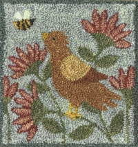 Bird & Bee - Punch Needle Pattern or Punch Needle Kit