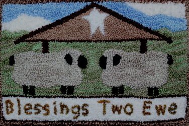 Blessings Two Ewe - Sheep Punch Needle Pattern or Punch Needle Kit