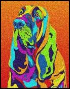 Blood Hound - Michael Vistia Dog Punch Needle Pattern & Dog Punch Needle Kits