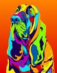 Blood Hound - Michael Vistia Dog Rug Hooking Pattern & Dog Rug Punching Pattern