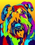 Bouvier - Michael Vistia Dog Rug Hooking Pattern & Dog Rug Punching Pattern