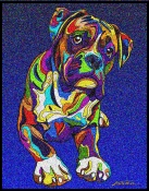 Boxer - Michael Vistia Dog Punch Needle Pattern & Dog Punch Needle Kits