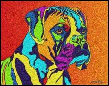 Boxer 2 - Michael Vistia Dog Punch Needle Pattern & Dog Punch Needle Kits