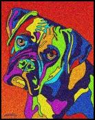 Boxer 3 - Michael Vistia Dog Punch Needle Pattern & Dog Punch Needle Kits