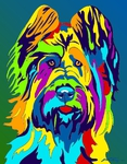 Briard - Michael Vistia Dog Punch Needle