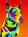 Bull Terrier - Michael Vistia Dog Punch Needle