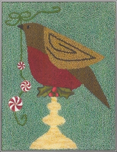 Christmas Robin - Punch Needle Pattern or Punch Needle Kit