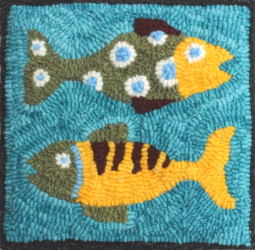 Colorado Trout - Fish Rug Hooking Patterns & Rug Hooking Kits