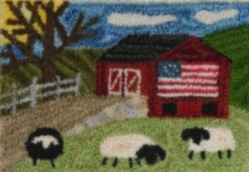 Country Barn - Punch Needle Pattern or Punch Needle Kit