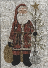 Country Santa - Punch Needle Pattern or Punch Needle Kit