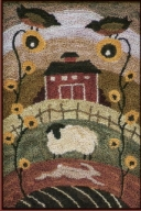 Country Layers - Farmyard Punch Needle Pattern and Punch Needle Kit