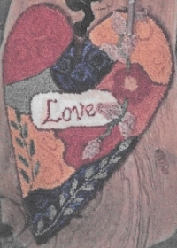 Crazy Love - Punch Needle Pattern or Punch Needle Kit