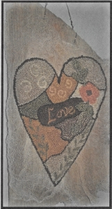 Crazy Love Primitive - Punch Needle Pattern or Punch Needle Kit