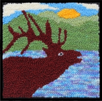 Elk - Elk  Rug Punching Kit