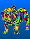 English Bulldog - Michael Vistia Dog Rug Hooking Pattern & Dog Rug Punching Pattern