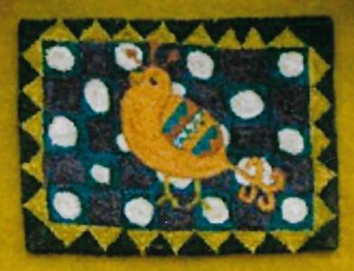 Fancy Bird - Punch Needle Pattern or Punch Needle Kit