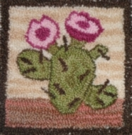 Flowering Cactus - Punch Needle Pattern or Punch Needle Kit