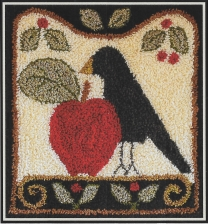 Folk Art Crow - Punch Needle Pattern or Punch Needle Kit