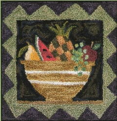 Fruit Salad - Fruit Punch Needle Pattern or Punch Needle Kit