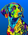 German Shorthair Pointer - Michael Vistia Dog Rug Hooking Pattern & Dog Rug Punching Pattern