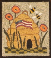 Glory Bee - Bee Punch Needle Pattern or Punch Needle Kit