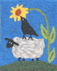 Helping Ewe - Sheep Rug Hooking Patterns & Rug Hooking Kits