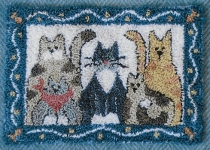 Here Kitty Kitty - Punch Needle Pattern or Punch Needle Kit