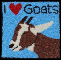 I Love Goats - Goat Rug Punching Kit