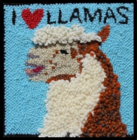 I Love Llamas - Llama  Rug Punching Kit