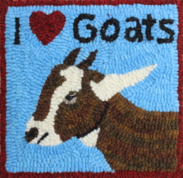 I Love Goats - Goat Rug Hooking Patterns & Rug Hooking Kits