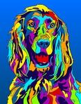 Irish Setter - Michael Vistia Dog Rug Hooking Pattern & Dog Rug Punching Pattern