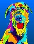 Irish Wolfhound - Michael Vistia Dog Rug Hooking Pattern & Dog Rug Punching Pattern